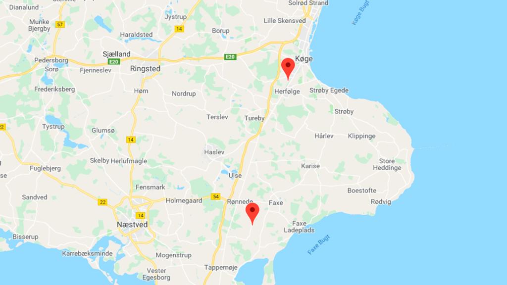Google Maps kort